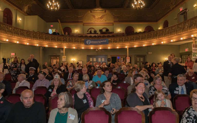 TSB attendees fill up theater seats before 2019 Foundation event begins.