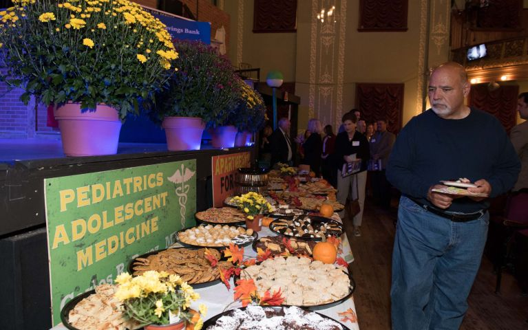 Dessert platters displayed across tables during the 2019 Thomaston Savings Bank Foundation Night event.