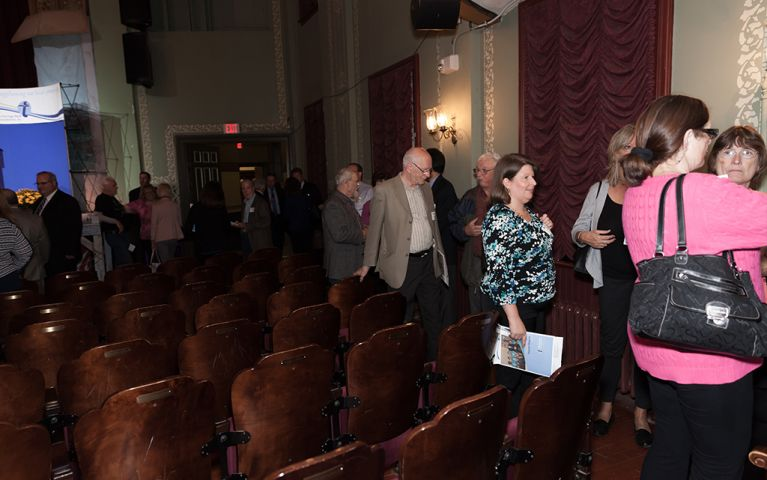 View of some attendees at the Thomaston Opera House for the 2017 TSB Foundation Night